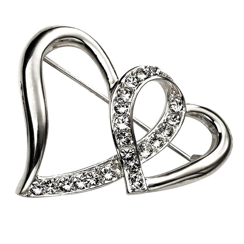 Hearts Brooch from the Brooches collection at Argenteus Jewellery