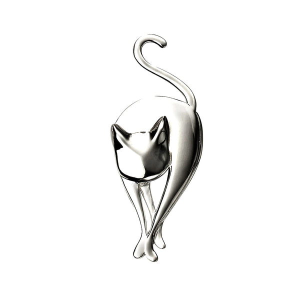 Cat Brooch from the Brooches collection at Argenteus Jewellery