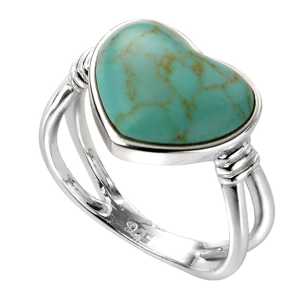 Turquoise Heart Ring from the Rings collection at Argenteus Jewellery
