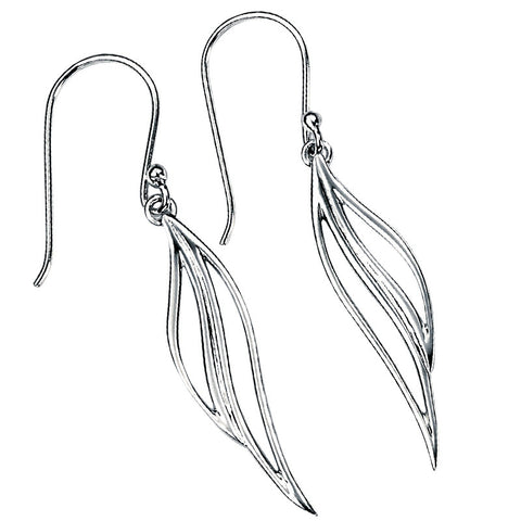 Long Double Swoop Drop Earrings from the Earrings collection at Argenteus Jewellery