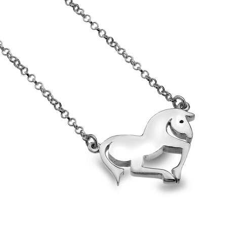 Horse Galloping Necklace from the Necklaces collection at Argenteus Jewellery