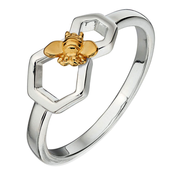 Bee and Honeycomb Ring from the Rings collection at Argenteus Jewellery