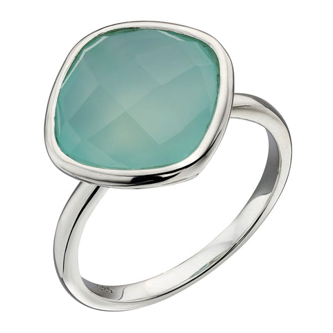 Chalcedony Green Ring