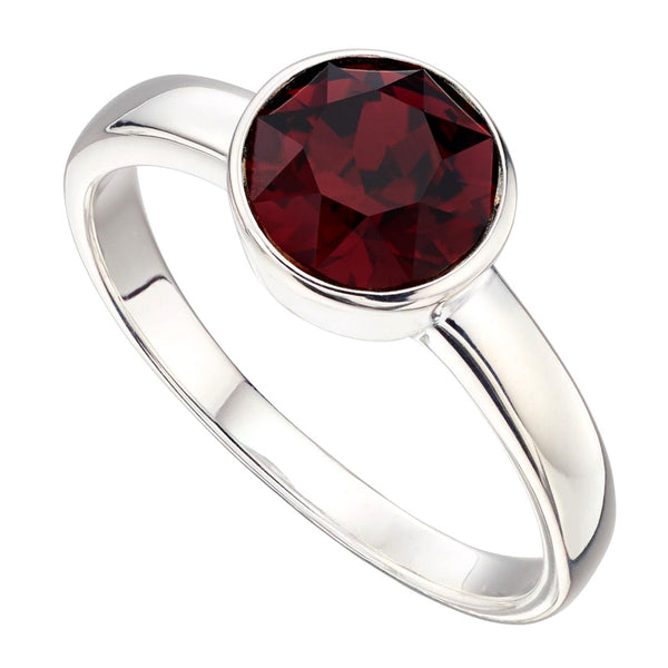 Birthstone Ring-January Garnet from the Rings collection at Argenteus Jewellery