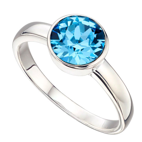 Birthstone Ring-March Aquamarine from the Rings collection at Argenteus Jewellery