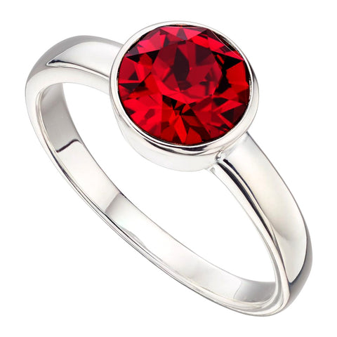 Birthstone Ring-July Ruby from the Rings collection at Argenteus Jewellery