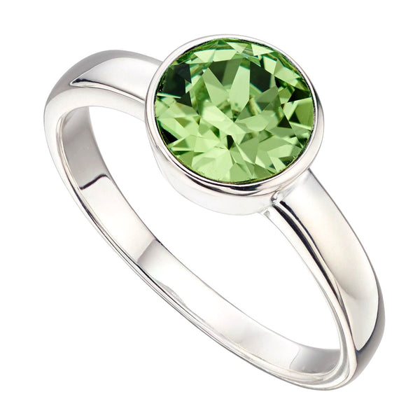 Birthstone Ring-August Peridot from the Rings collection at Argenteus Jewellery