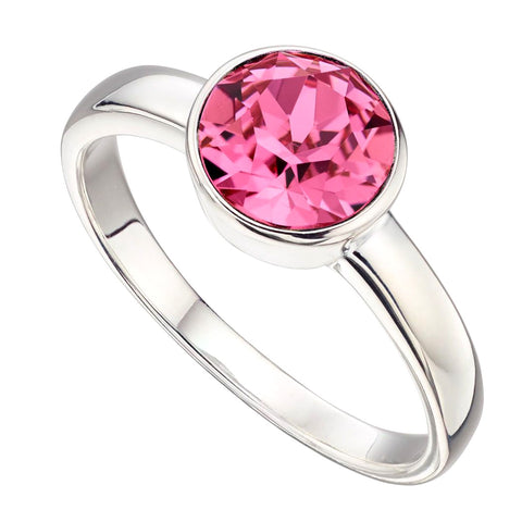 Birthstone Ring-October Rose Tourmaline from the Rings collection at Argenteus Jewellery