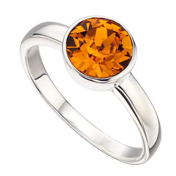 Birthstone Ring-November Orange Topaz from the Rings collection at Argenteus Jewellery