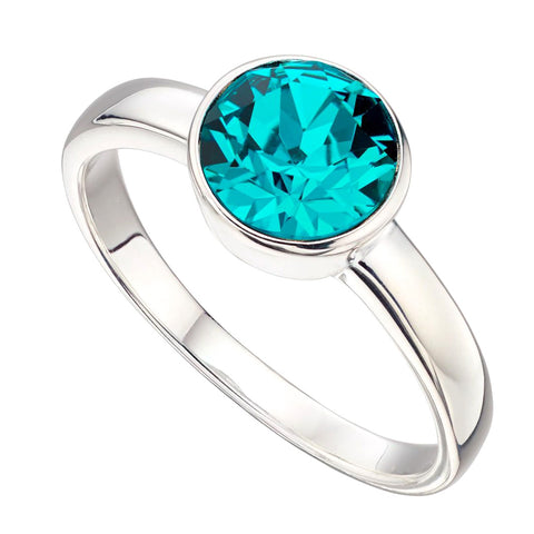 Birthstone Ring-December Blue Zircon from the Rings collection at Argenteus Jewellery