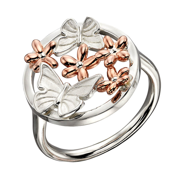 Butterflies and Daisies Circle Ring from the Rings collection at Argenteus Jewellery