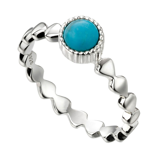 Circle Ring - Blue Magnesite from the Rings collection at Argenteus Jewellery