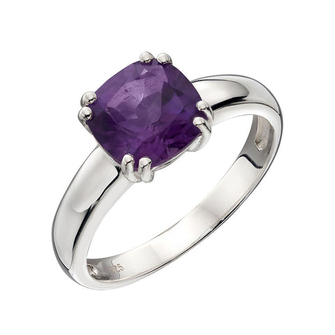 Lucent Square Amethyst Ring