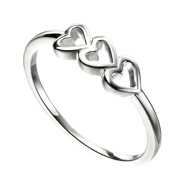 Trio of Hearts Ring from the Rings collection at Argenteus Jewellery
