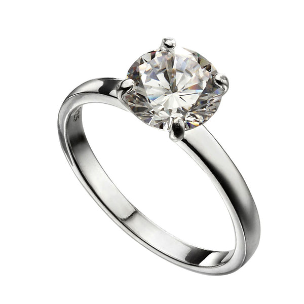 Cubic Zirconia Solitaire Ring from the Rings collection at Argenteus Jewellery