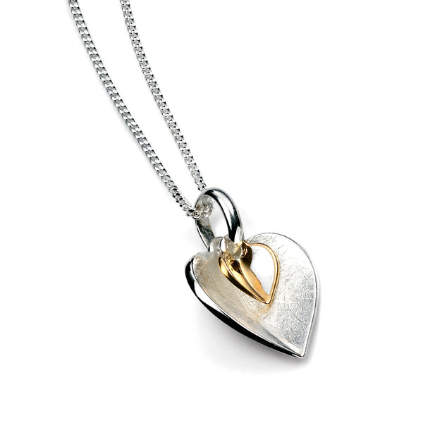 Gold Plate Hearts Necklace from the Necklaces collection at Argenteus Jewellery