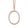 Rose Gold Plate Crystal Oval Drop Necklace from the Necklaces collection at Argenteus Jewellery