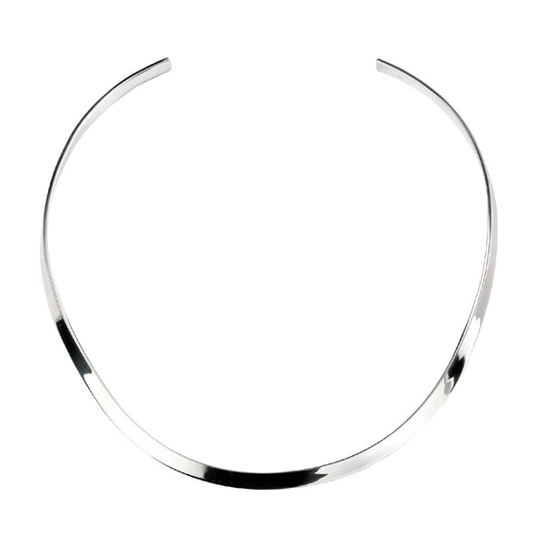 Flat Torc Necklace from the Necklaces collection at Argenteus Jewellery