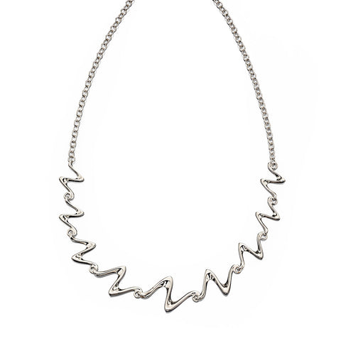 Flowing Sculpture Necklace from the Necklaces collection at Argenteus Jewellery