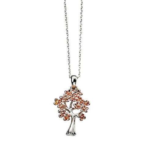 Cherry Blossom Tree Pendant Necklace