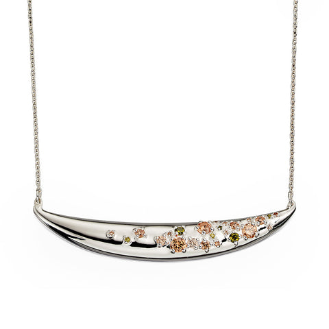 Crystalline Texture Necklace from the Necklaces collection at Argenteus Jewellery
