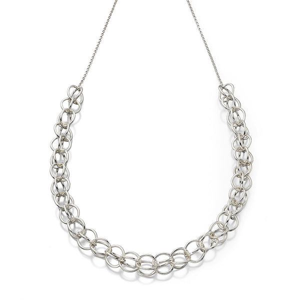 Linked Spheres Necklace from the Necklaces collection at Argenteus Jewellery