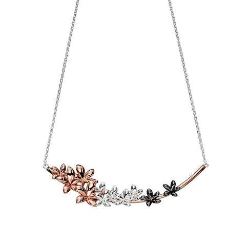 Five Petal Flowers Necklace from the Necklaces collection at Argenteus Jewellery