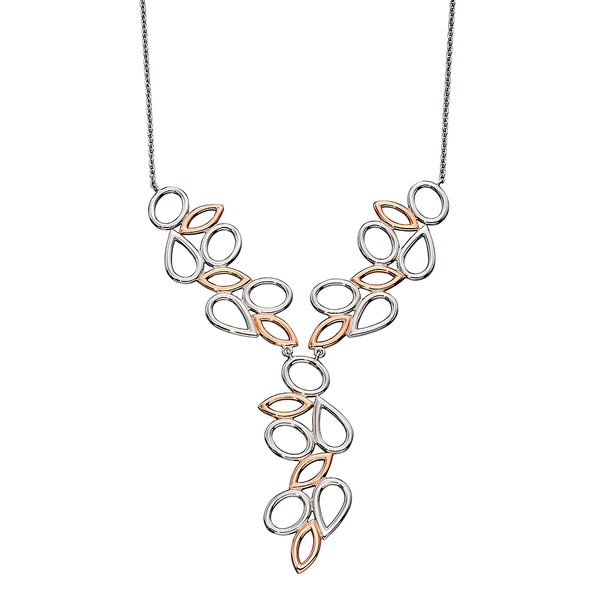 Ovals Teardrops and Ellipses Cascade Necklace from the Necklaces collection at Argenteus Jewellery