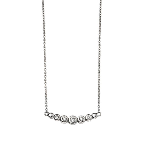 Curved Bar Crystals Necklace from the Necklaces collection at Argenteus Jewellery