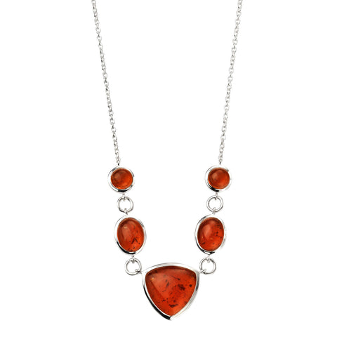 Amber Shapes Necklace from the Necklaces collection at Argenteus Jewellery