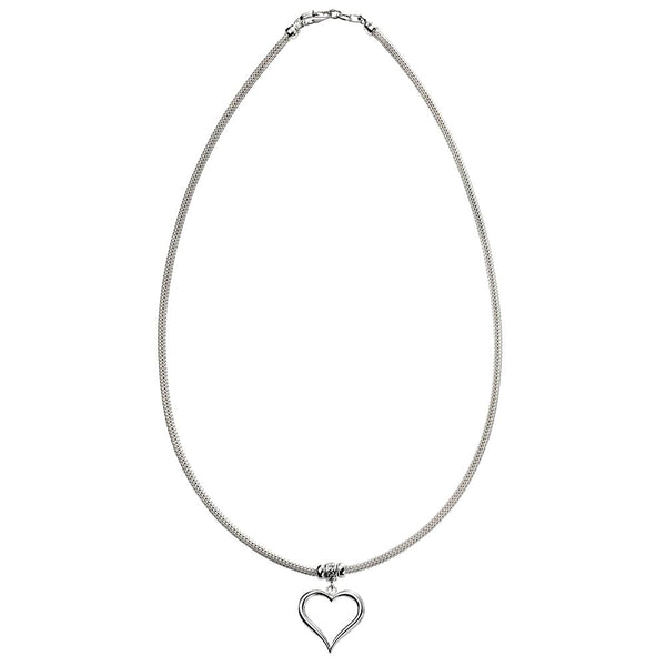 Heart Charm Mesh Necklace from the Necklaces collection at Argenteus Jewellery