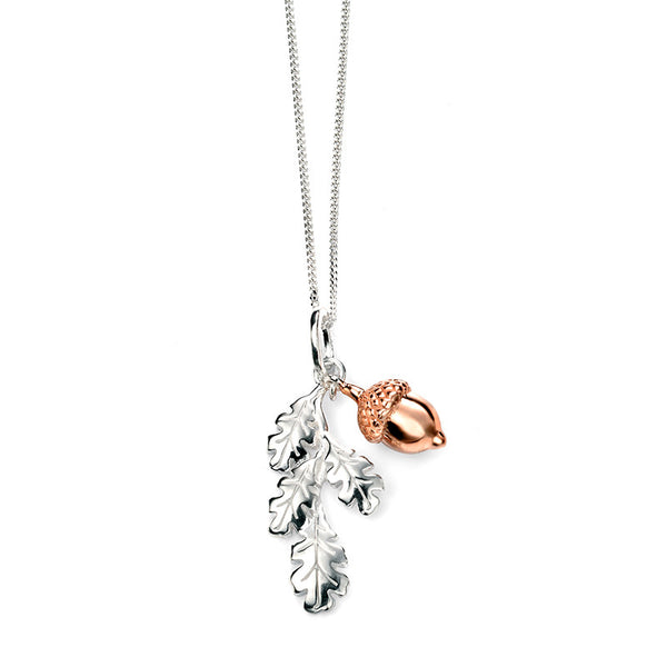 Oak Leaves & Acorn Necklace from the Necklaces collection at Argenteus Jewellery