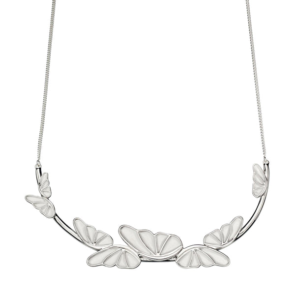 Butterfly Satin Finish Necklace from the Necklaces collection at Argenteus Jewellery