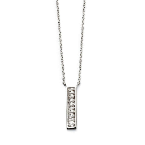 Rectangle Bar Crystal Necklace from the Necklaces collection at Argenteus Jewellery