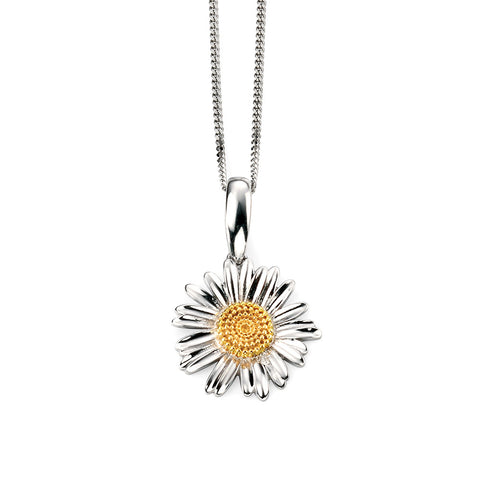 Sterling Silver Flower Drop Necklace from the Necklaces collection at Argenteus Jewellery