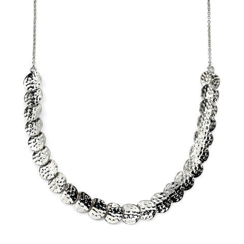Concave Discs Necklace - Hammer Finish from the Necklaces collection at Argenteus Jewellery