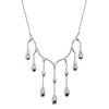 Silver Raindrops Necklace from the Necklaces collection at Argenteus Jewellery