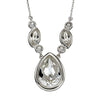 Clear Crystal Teardrop Necklace from the Necklaces collection at Argenteus Jewellery