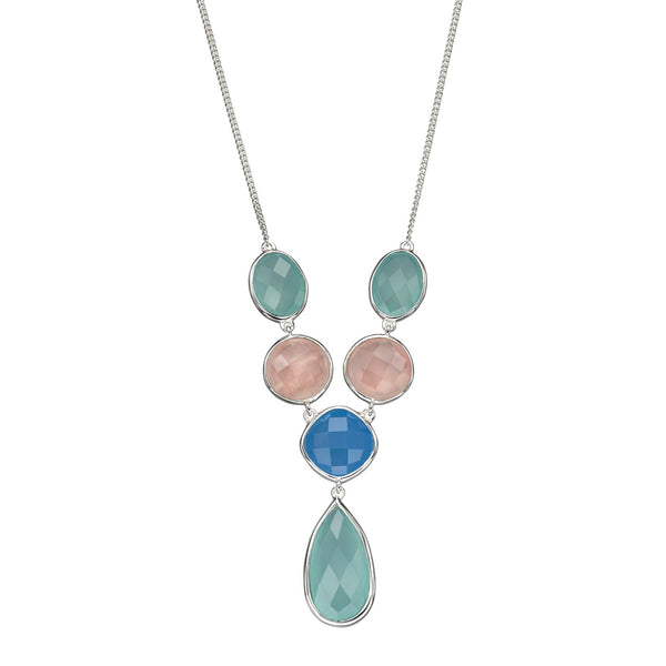 Chalcedony Mix Necklace from the Necklaces collection at Argenteus Jewellery