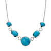 Circle and Oval Necklace - Blue Magnesite from the Necklaces collection at Argenteus Jewellery