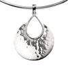 Teardrop Torc Necklace - Hammer Finish from the Necklaces collection at Argenteus Jewellery