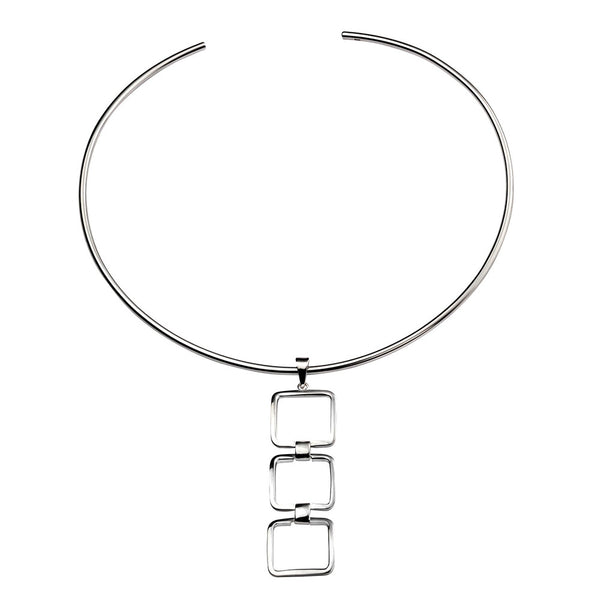 Squares Torc Necklace from the Necklaces collection at Argenteus Jewellery