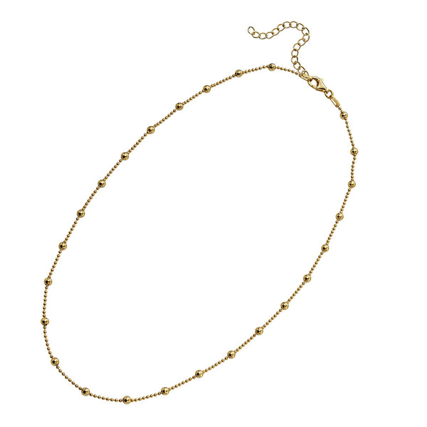 Bead Studded Chain - Gold Plate from the Necklaces collection at Argenteus Jewellery