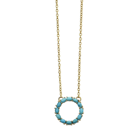 Circle Necklace - Blue Magnesite