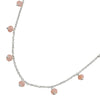 Stone Beads Necklace - Rose Quartz from the Necklaces collection at Argenteus Jewellery