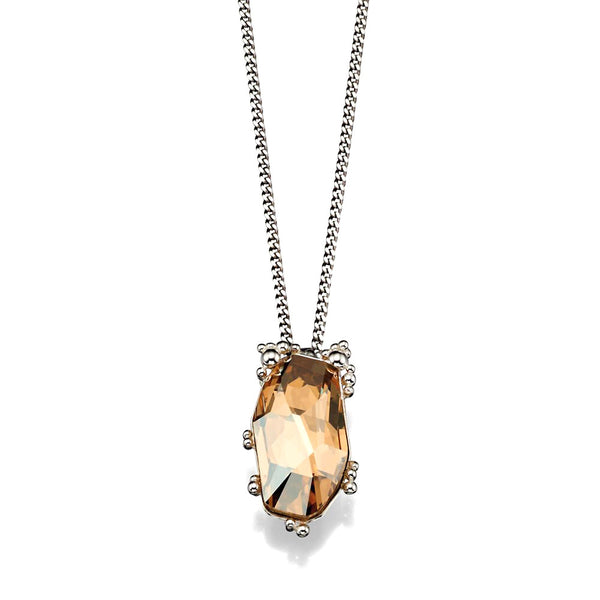 Golden Glow Crystal Necklace from the Necklaces collection at Argenteus Jewellery