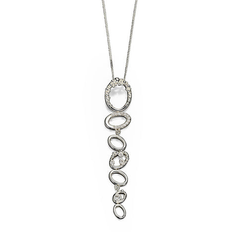 Crystalline Organic Circles Necklace