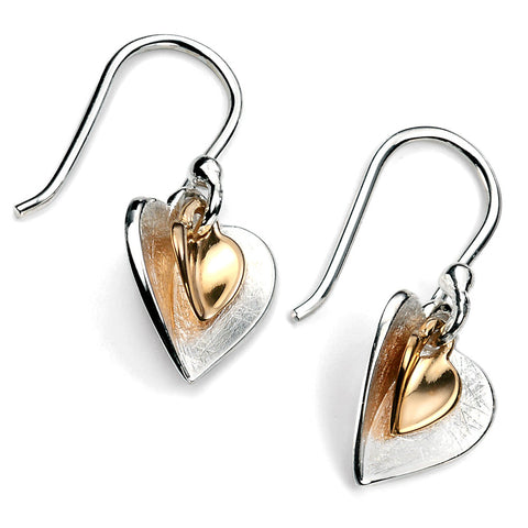 Gold Plate Hearts Earrings