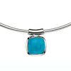 Turquoise Pendant Torc Necklace from the Necklaces collection at Argenteus Jewellery