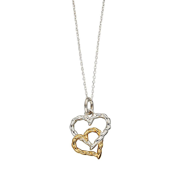 Twisted Linked Hearts Necklace from the Necklaces collection at Argenteus Jewellery